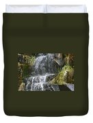 Waterfall On Mount Ranier Duvet Cover