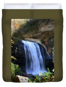 Waterfall On The Cliff Edge Duvet Cover