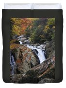 Waterfall On West Fork French Broad River Duvet Cover