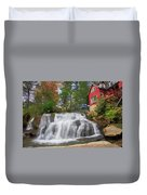 Waterfall Painting Duvet Cover