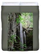 Waterfall Portrait Duvet Cover