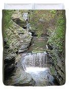 Waterfall Rocks Foliage Pond 2 9132017 Duvet Cover