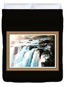 Waterfall Scene For Mia Parker - Sutcliffe L A S With Decorative Ornate Printed Frame.  Duvet Cover