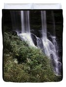 Waterfall Wildflowers Duvet Cover