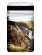 Waterfall Yellowstone 2 Duvet Cover