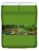 Waterfalls And Banyans Duvet Cover