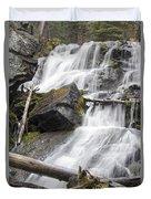 Waterfalls Of Lost Creek Duvet Cover by Dana Moyer