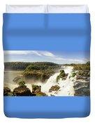 Waterfalls On Iguazu River Duvet Cover