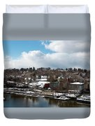 Waterfront After The Storm Duvet Cover