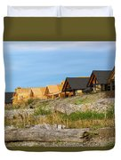 Waterfront Condominiums On The Beach Of Semiahmoo Bay Duvet Cover
