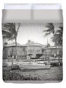 Waterfront Cottages At Parmer's Resort In Keys Duvet Cover