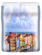 Waterfront Houses Duvet Cover