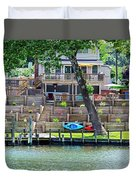 Waterfront Landscaping Duvet Cover