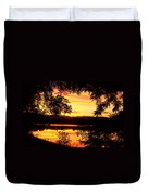 Waterfront Spectacular Sunset Duvet Cover