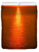 Waterfront Sunrise Duvet Cover