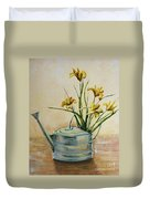 Watering Can Duvet Cover