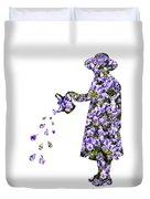 Watering Flowers Duvet Cover