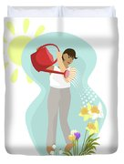 Watering Plants Duvet Cover