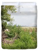 Watering The Weeds Duvet Cover