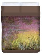 Waterlilies At Sunset Duvet Cover