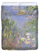 Waterlilies, Cluster Of Grass Duvet Cover