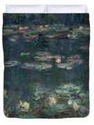Waterlilies Green Reflections Duvet Cover