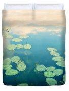 Waterlilies Home Duvet Cover by Priska Wettstein