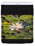 Waterlily On The Water Duvet Cover
