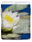 Waterlily Reflections Duvet Cover