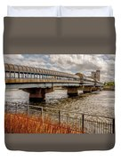 Waterloo Iowa Bridge Duvet Cover