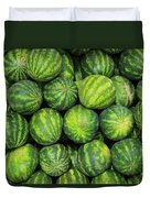Watermelons At The Market Duvet Cover
