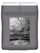 Waterscape In Bw Duvet Cover