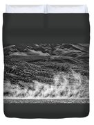 Waterspouts On Viedma Lake - Patagonia Duvet Cover