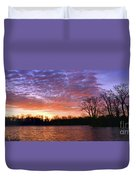 Waterville Sunrise Panorama 0002 0003 Signed Duvet Cover