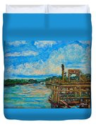 Waterway Near Pawleys Island Duvet Cover