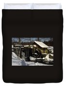 Waterwheel With Snow Duvet Cover