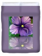 Watery African Violet Reflection Duvet Cover