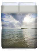 Watery Sunset At Media Luna Duvet Cover