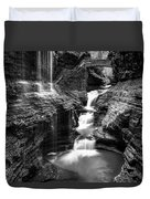 Watkins Glen Rainbow Falls #2 Duvet Cover