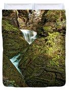 Watkins Glen Waterfall Duvet Cover