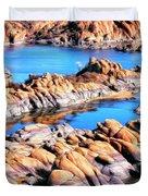 Watson Lake At Prescott Az Duvet Cover