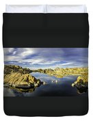Watson Lake Panoramic 30x12 Duvet Cover