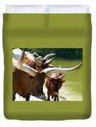 Watusi Cattle Duvet Cover