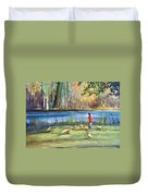 Wautoma Mill Pond Duvet Cover