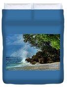 Wave Crashing Punta Cana Duvet Cover