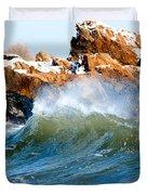 Wave Mirrors Rock Duvet Cover