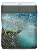 Wave Rider Turtle Duvet Cover