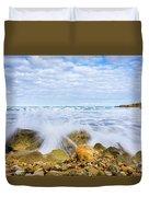 Wave Splash Duvet Cover by Gary Gillette