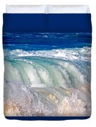 Wave Waterfall, Sunset Beach, Hawai'i Duvet Cover