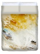 Wave Whitewash Duvet Cover